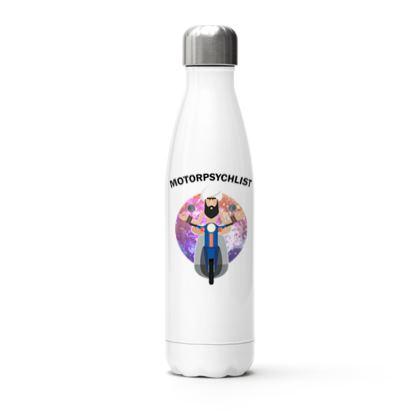 Stainless Steel Thermal Bottle - Guru Motorpsychlist Funny Pun