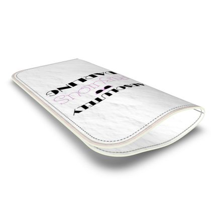 Leather Glasses Case - Absolutely Fabulous Darling - ABFAB