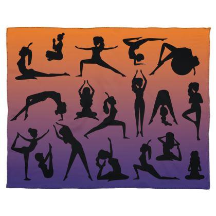 Scarf Wrap Or Shawl - Burnt Sunset Yoga Poses