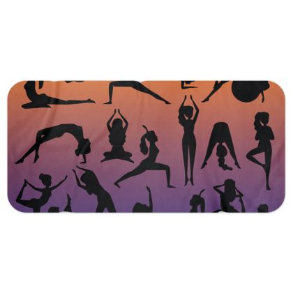 Blanket Scarf - Burnt Sunset Yoga Poses