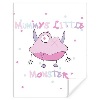 "Ava ""Mummy's Little Monster"" Slogan Gift Wrap Designed by Spoilt By Jade"