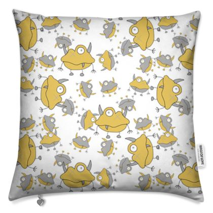 Unisex Repeated Monster Children's Cushion Covers Designed by Spoilt By Jade