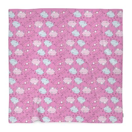 Ava Monster, Mini Repeated Print Fleece Blanket Designed by Spoilt By Jade