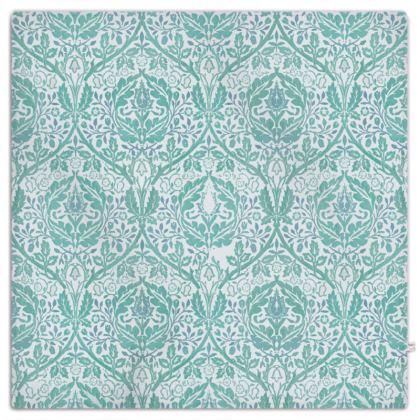 Picnic Blanket - William Morris' Golden Bough Jade Remix