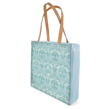 Beach Bag - William Morris' Golden Bough Jade Remix