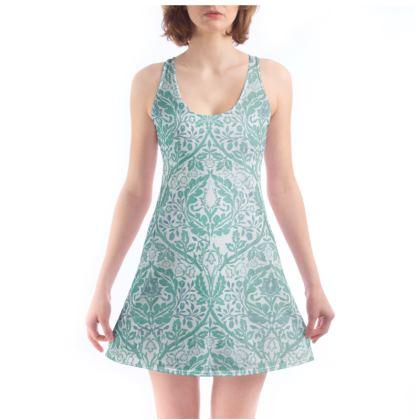 Beach Dress - William Morris' Golden Bough Jade Remix