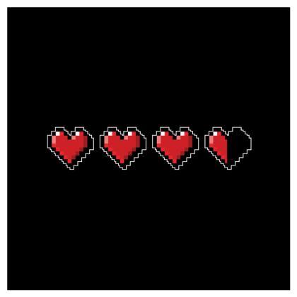 Cushions - Pixel Hearts - Damage Taken Health Bar