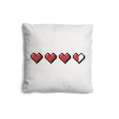 Pillows Set - Pixel Hearts - Damage Taken Health Bar