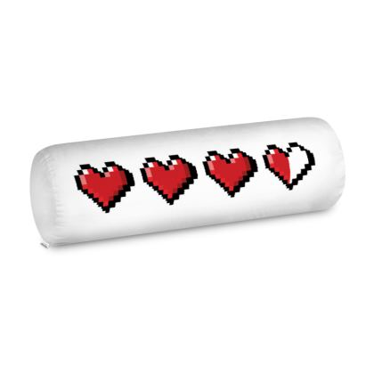 Big Bolster Cushion - Pixel Hearts - Damage Taken Health Bar
