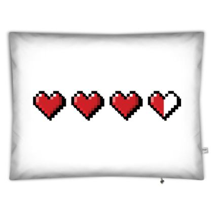 Floor Cushion Covers - Pixel Hearts - Damage Taken Health Bar