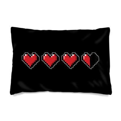 Pillow Case - Pixel Hearts - Damage Taken Health Bar