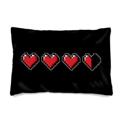 Pillow Cases Sizes - Pixel Hearts - Damage Taken Health Bar