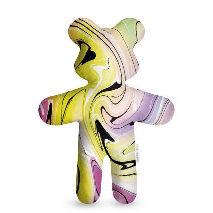 Teddy Bear - Multicolour Swirling Marble Pattern 3 of 12