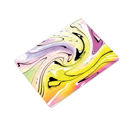 Plastic Jigsaw Puzzle - Multicolour Swirling Marble Pattern 3 of 12