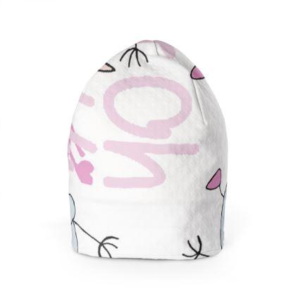 "Ava ""Oh Oh Hi"" Slogan, Children's Beanie Hat Designed by Spoilt By Jade"
