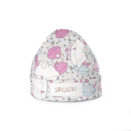 6ce971971d3 Ava Overlay Off-White Children s Beanie Hat Designed by Spoilt By Jade