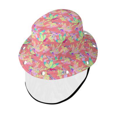 Bucket Hat With Visor Regal Leaves