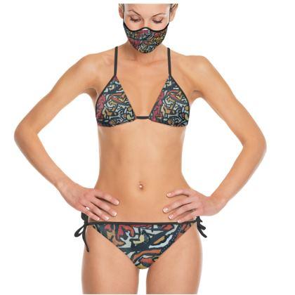 Trinkini Bikini mit passender Maske