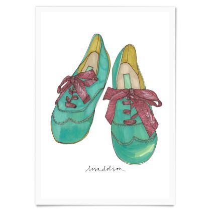 Hand drawn print- Shoes