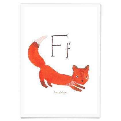 Art Print-Ff is for Fox