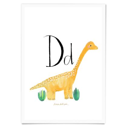 Art Print- Dd is for Dinosaur