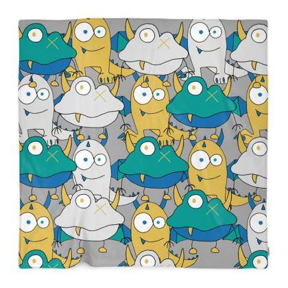 Leo, Colourful Monster, Children's Fleece Blanket Designed by Spoilt By Jade