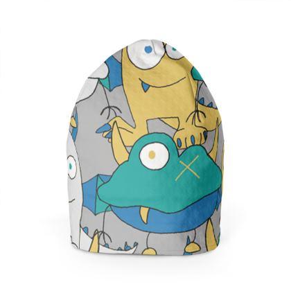 Leo Colourful Monster Children's Beanie Hat Designed by Spoilt By Jade