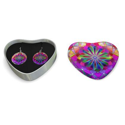 Sterling Silver Earrings Mandala Rays