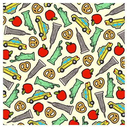 New York, New York Pattern Luggage Tags