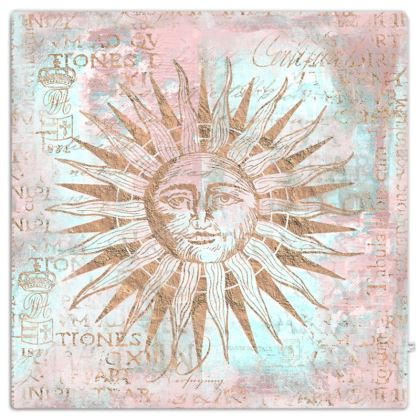 Rose Gold Teal Ancient Sun Throw
