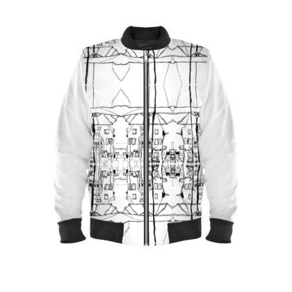 Supertolle individuelle weiße Jacke mit Motiv aus Eisenberg aus der Pfalz