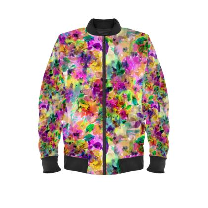 Belle Floral Print Ladies Bomber Jacket