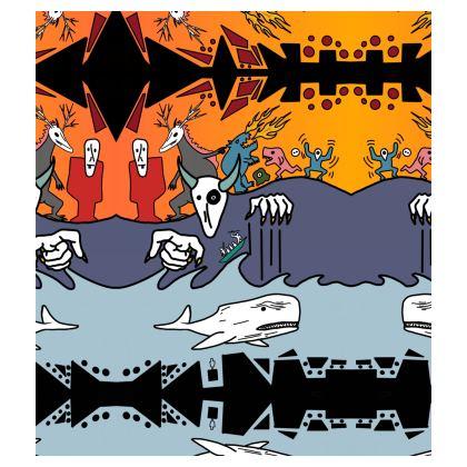 The Terrors of Moby Richard Skater Dress