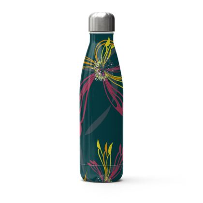 S/S Thermal drinks bottle: Rich Flourishes design