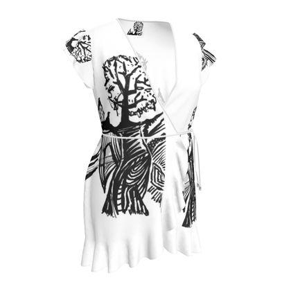 Oberteil in schwarz weißem Design aus der Kollektion Sidika