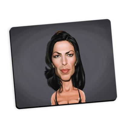 Claudia Black Celebrity Caricature Mouse Mat