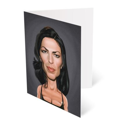 Claudia Black Celebrity Caricature Occasions Cards