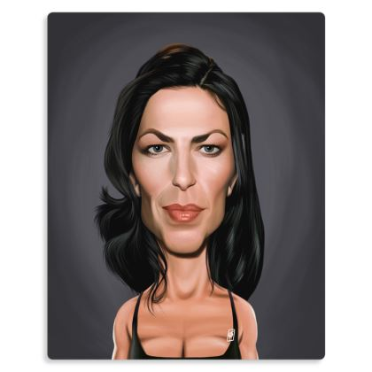 Claudia Black Celebrity Caricature Metal Print