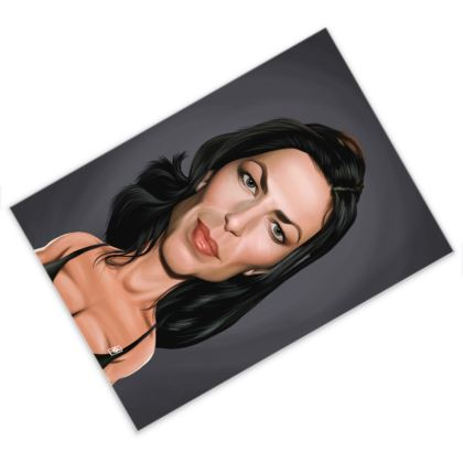 Claudia Black Celebrity Caricature Postcard