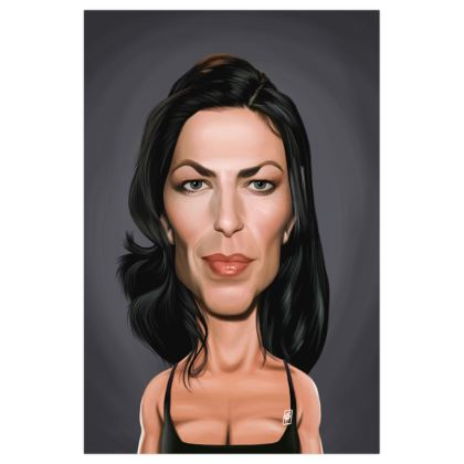 Claudia Black Celebrity Caricature Art Print
