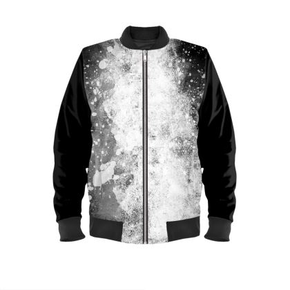 Mens Bomber Jacket - Galaxy Greyscale