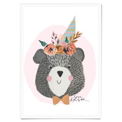Art Poster- Birthday Bear