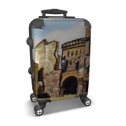 Koffer mit Burg Design