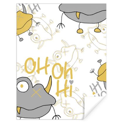 """Unisex """"Oh Oh Hi"""" Slogan Children's Gift Wrap Designed by Spoilt By Jade"""