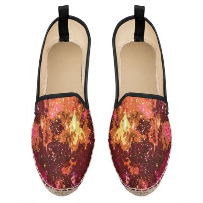 Loafer Espadrilles - Orange Nebula Galaxy Abstract