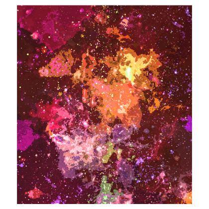 Flip Flops - Orange Nebula Galaxy Abstract