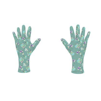 Fleece Gloves My Sweet Pea Soft Teal