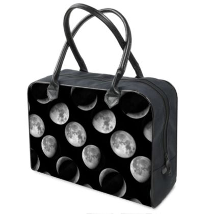 Moon Phases Pattern Weekend Holdalls Bag