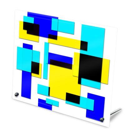 Glass Frame - Bright Squares