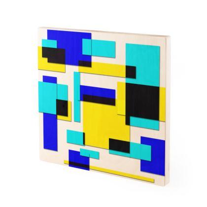 Wood Prints - Bright Squares